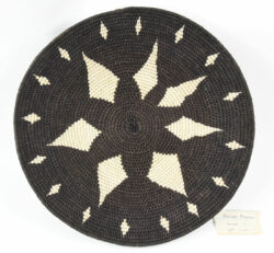 Sisal basket in black and cream from the Zienzele Foundation