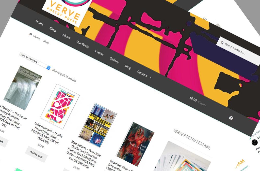 verve poetry press shop Kenilworth Birmingham