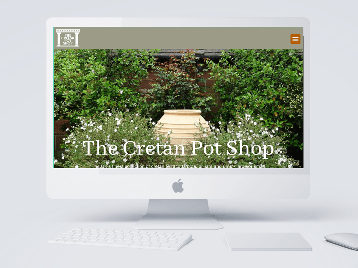 The Cretan Pot Shop as designed by Emma Scott Web Design Kenilworth