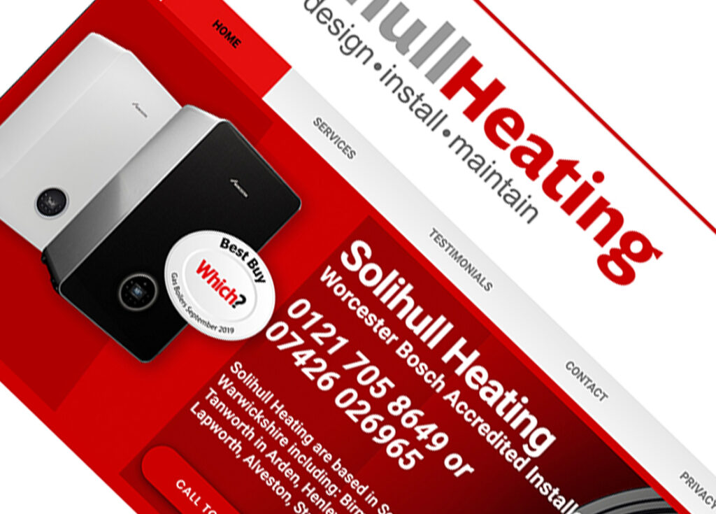 Emma Scott Web Design Kenilworth created Solihull Heating