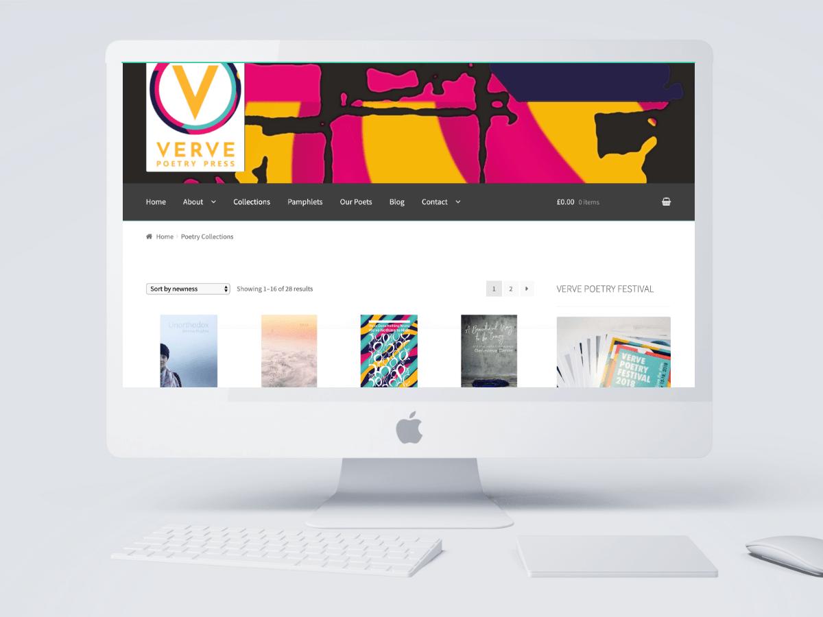 Verve Poetry Press Birmingham Website by Emma Scott Web Design Warwickshire