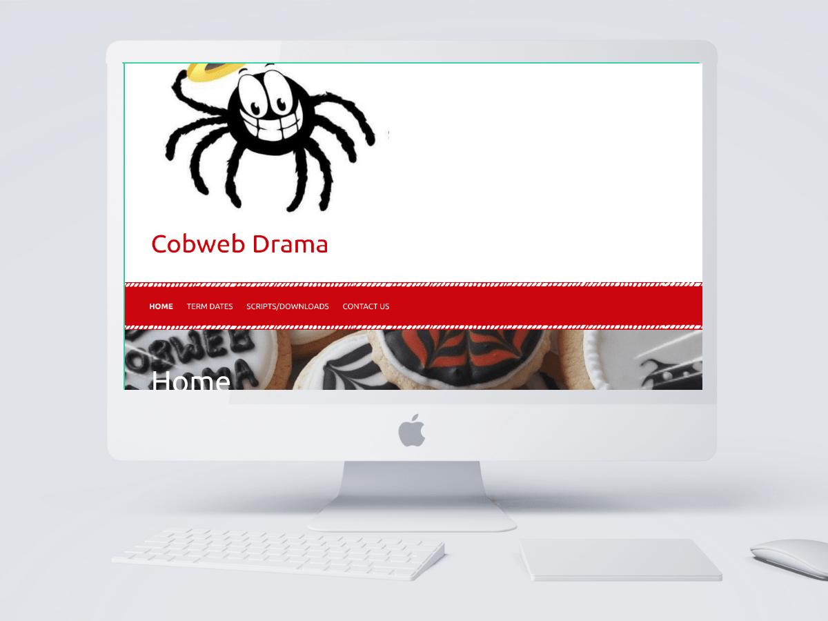 Cobweb Drama website created by Emma Scott Web Design Warwickshire