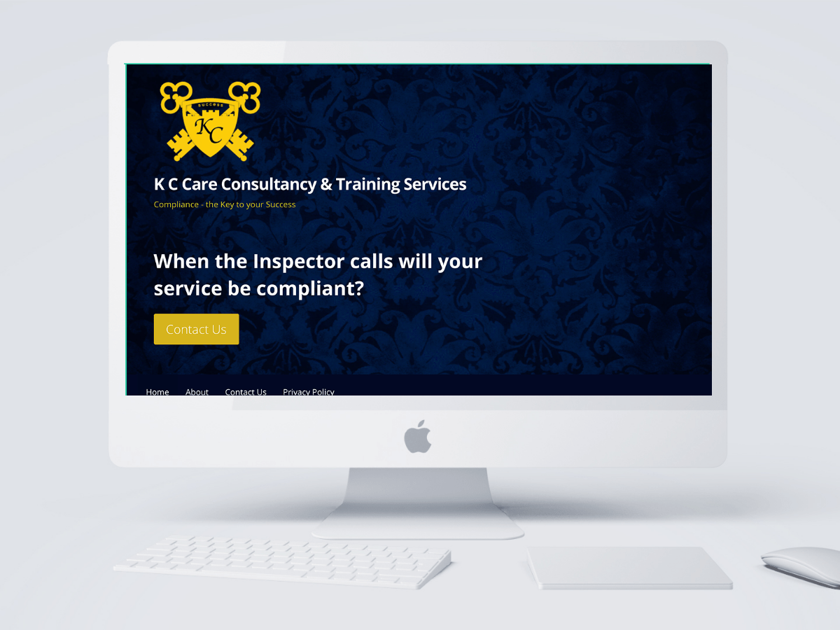 K C Care and Consultancy and Training Services website created by Emma Scott Web Design