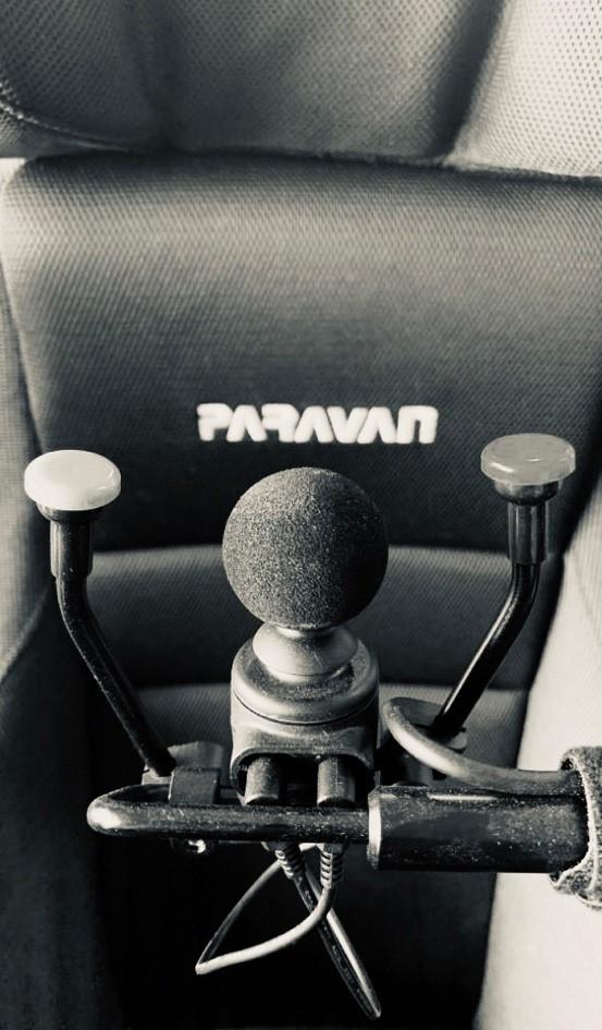 Rollstuhl mit Sondersteuerung von rollandtalk