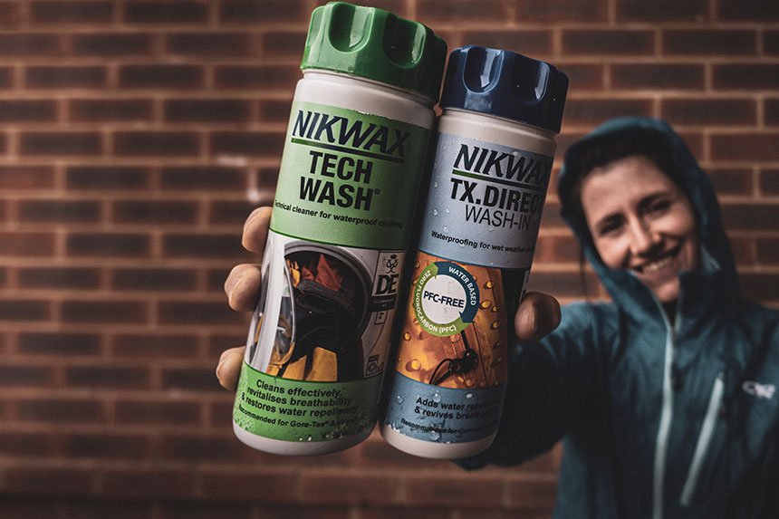 Nikwax products. Tech Wash & TX Direct Wash In