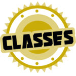 Classes Plate Icon Gold