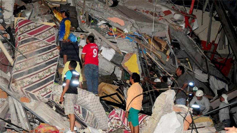 The quake caused 'considerable damage' in Guayaquil, the country's most populous city [Reuters]