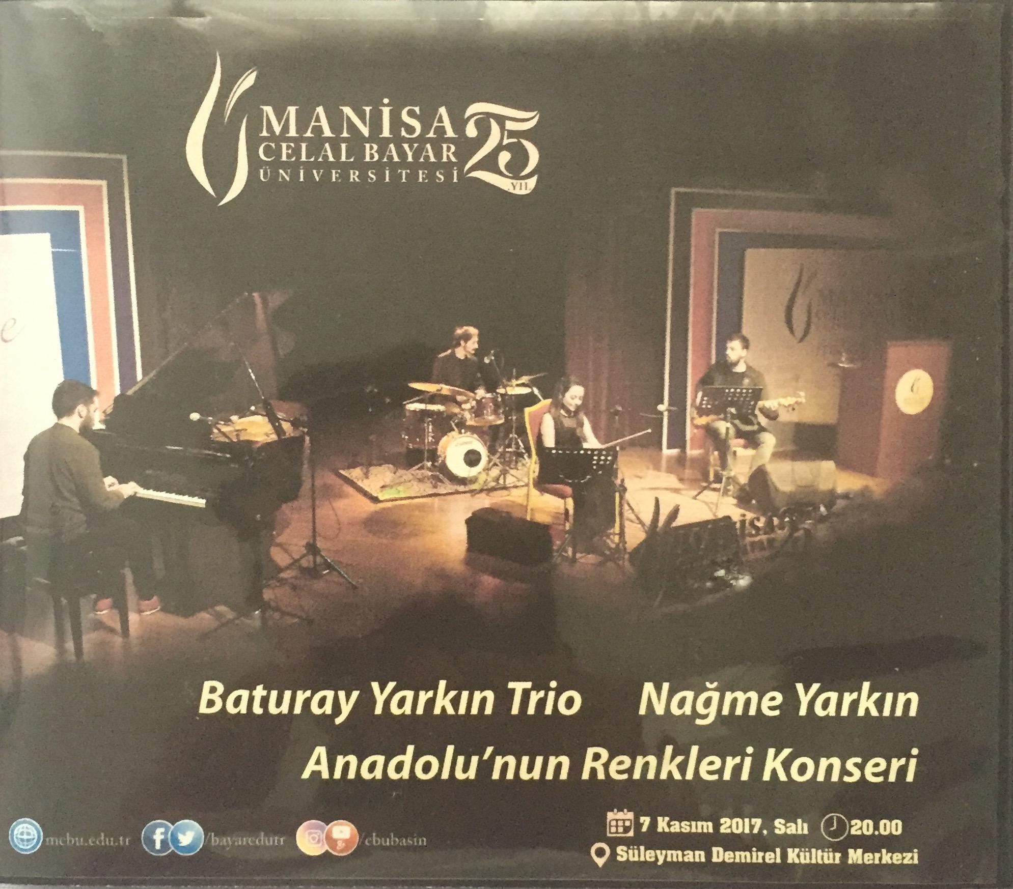Baturay Yarkın Trio & Nağme Yarkın, 'the Colors of Anatolia' Live in Concert (2017)