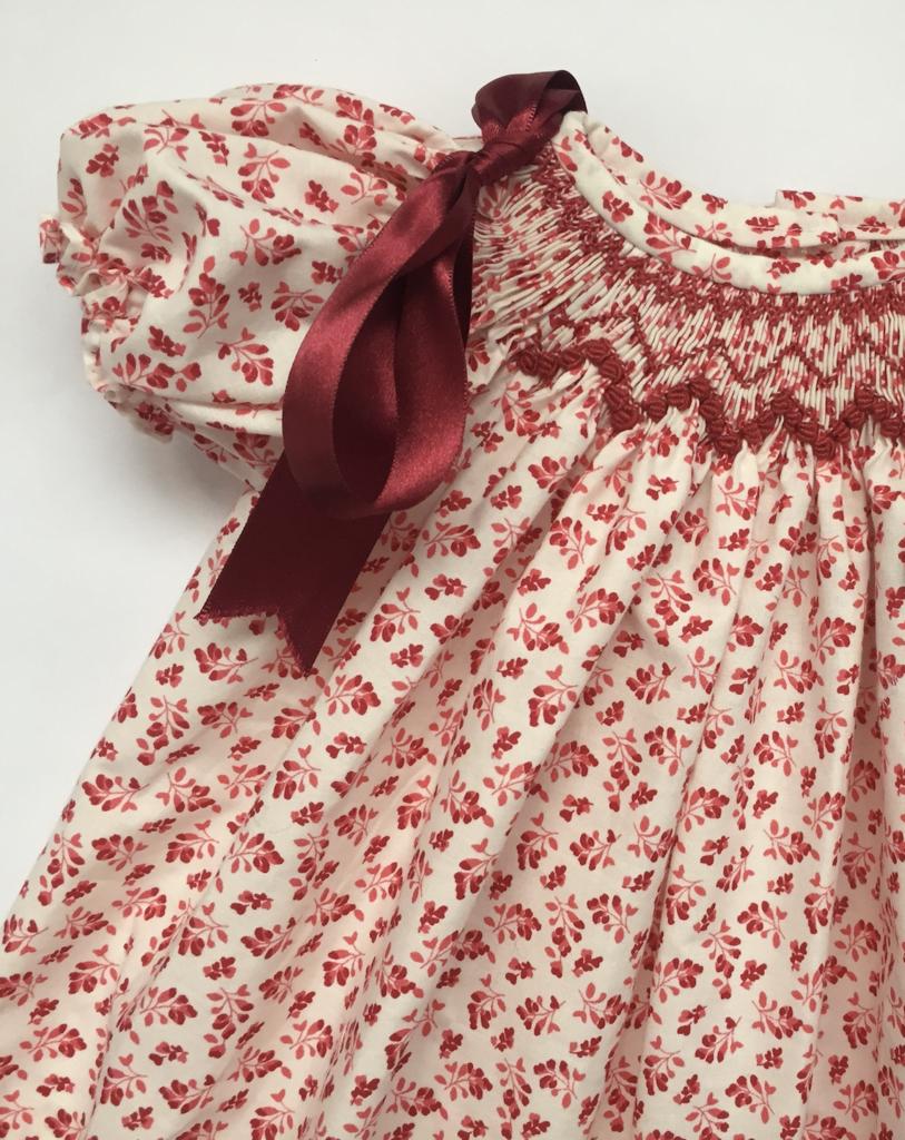 Hibiscus Linen's hand-smocked dress