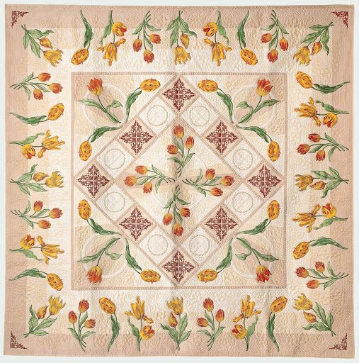 Susan Stewart 'Tulip Fire' Quilt, 2012, The National Quilt Museum