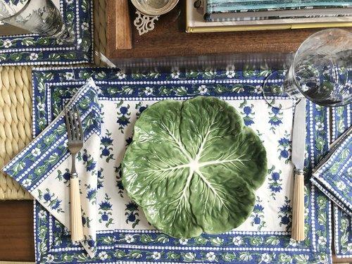 Woodland placemat and napkin set - India Amory
