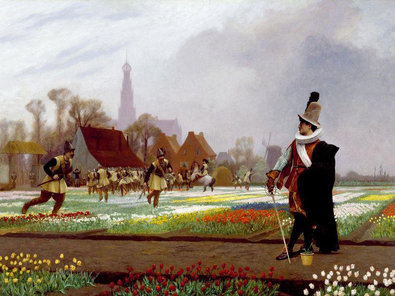 Jean Leon Gerome, The Tulip Folly, 1882, The Walters Art Museum