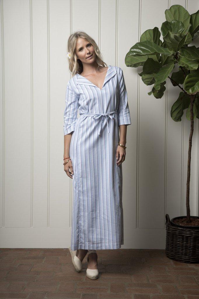 Carmel Cabana dress -ocean stripe by Olivia Joffrey