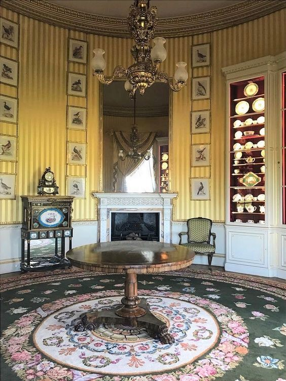 The Card Room at Goodwood where the Sevres collection is displayed