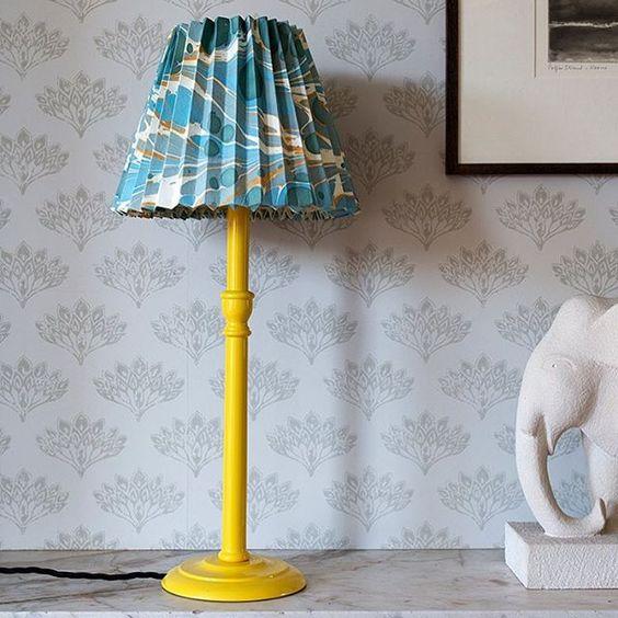 lamp and paper lampshade by Rosi de Ruig