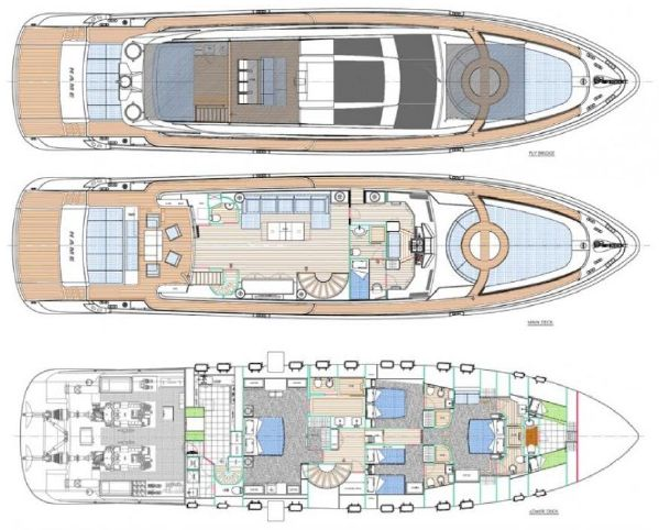 Yacht Plan | Cerri 102 Flying Sport