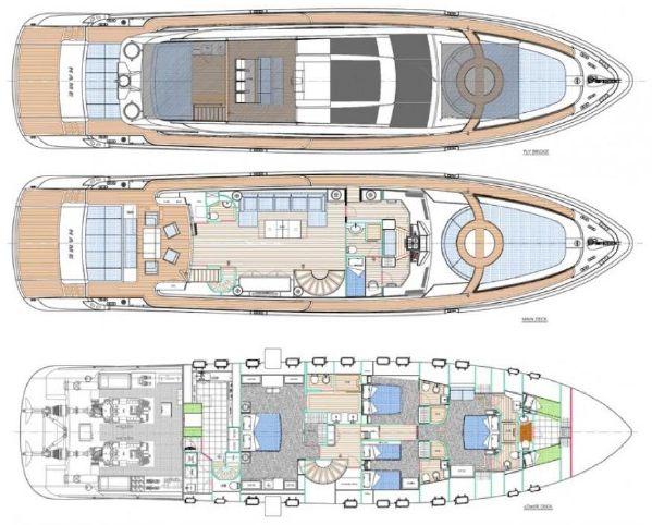 Yacht Plan | Cerri 102 Flying Sport