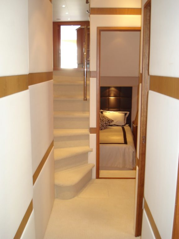 companionway looking aft | Cleman