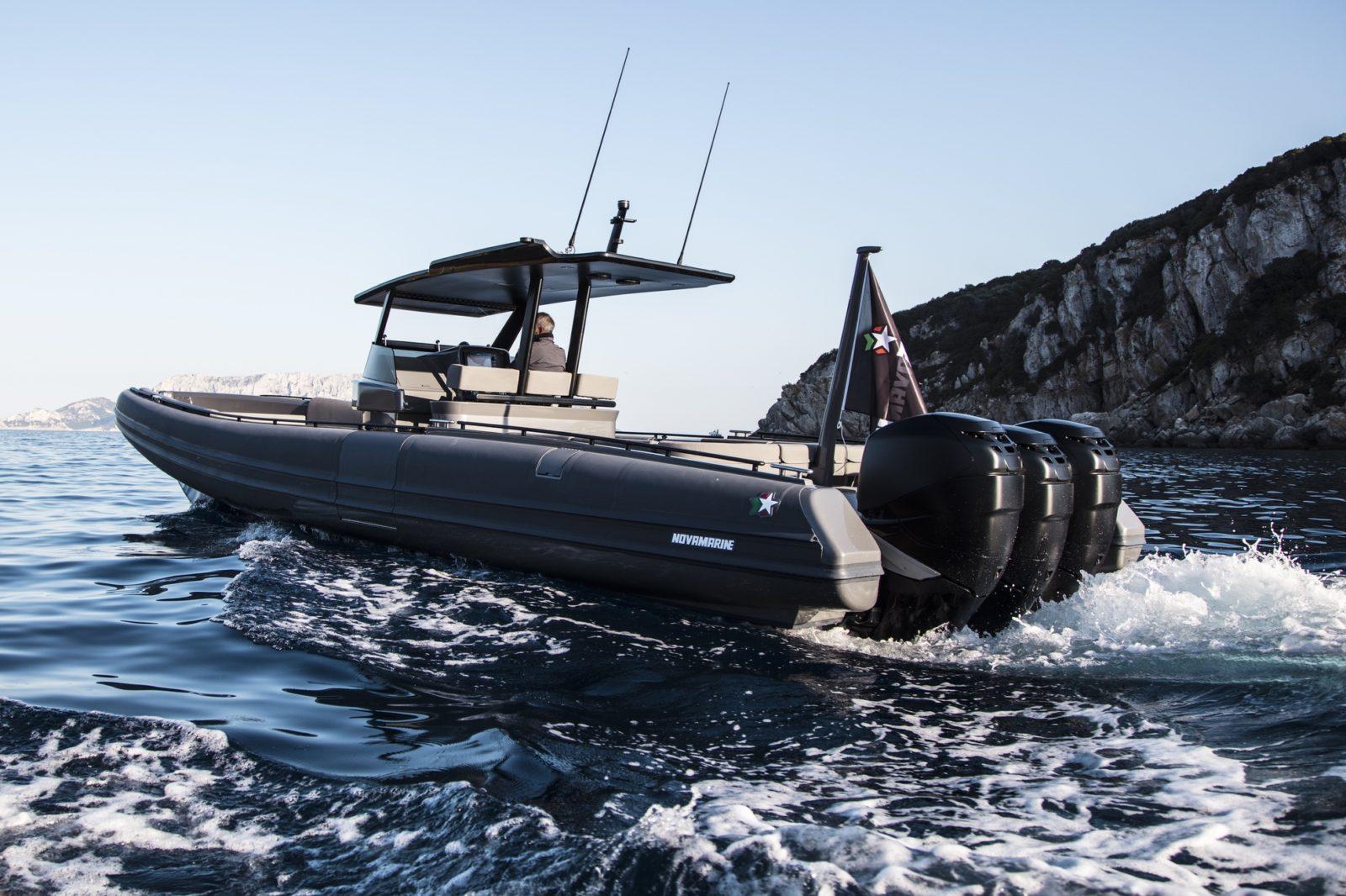 Luxury yacht for Sale | Black Shiver 120 (New) w/ Mercury Racing by Novamarine
