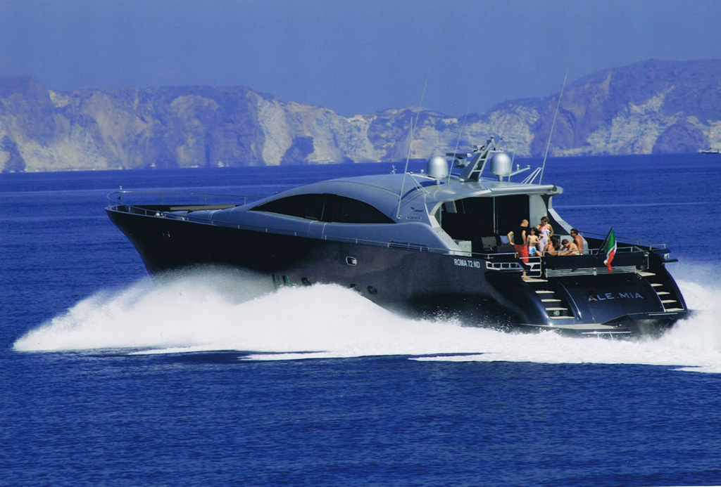 Luxury yacht for Charter   Alemia by Rizzardi Italcraft