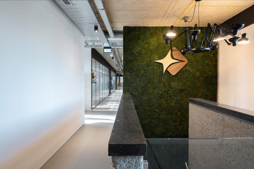 new office gouda Moss wall starware logo