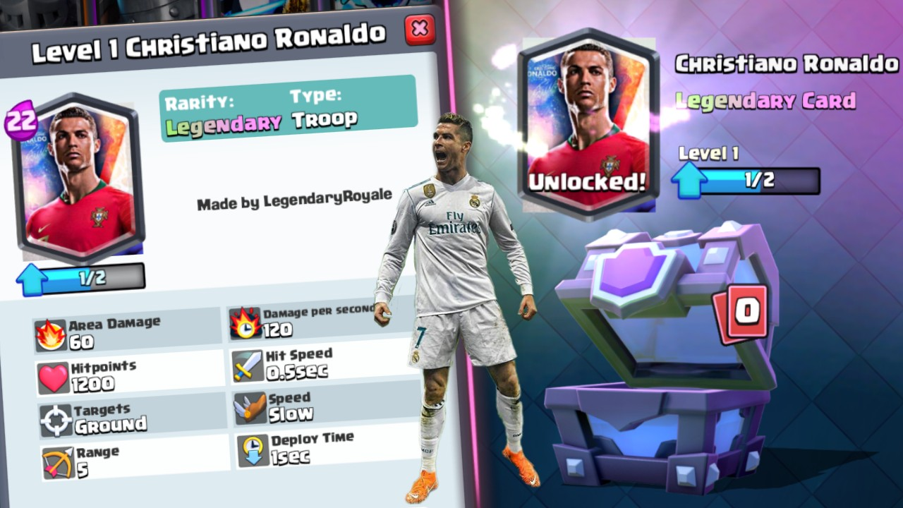 Cristiano Ronaldo in Clash Royale!