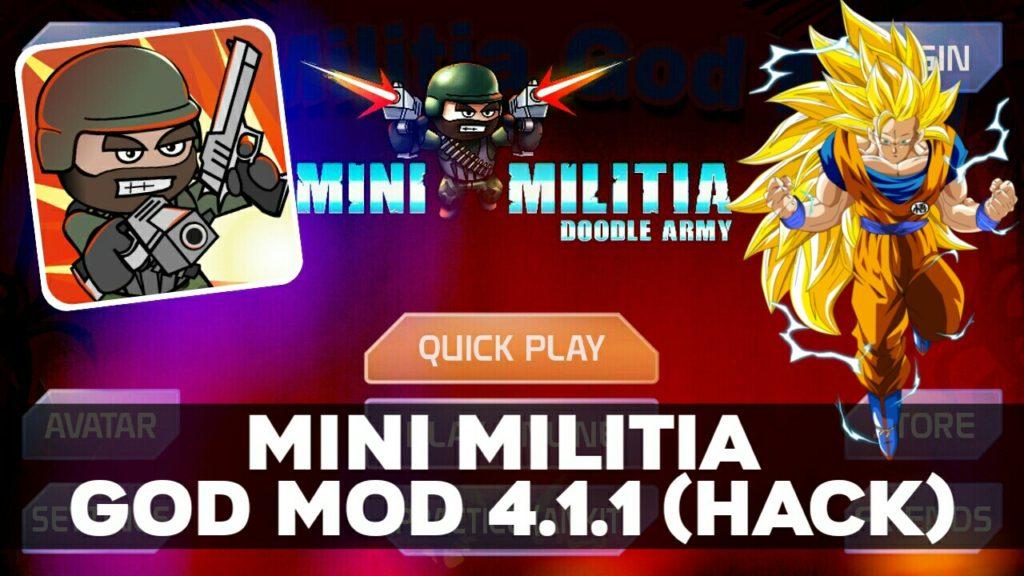 DOWNLOAD Mini Militia GOD MOD APK 4.1.1