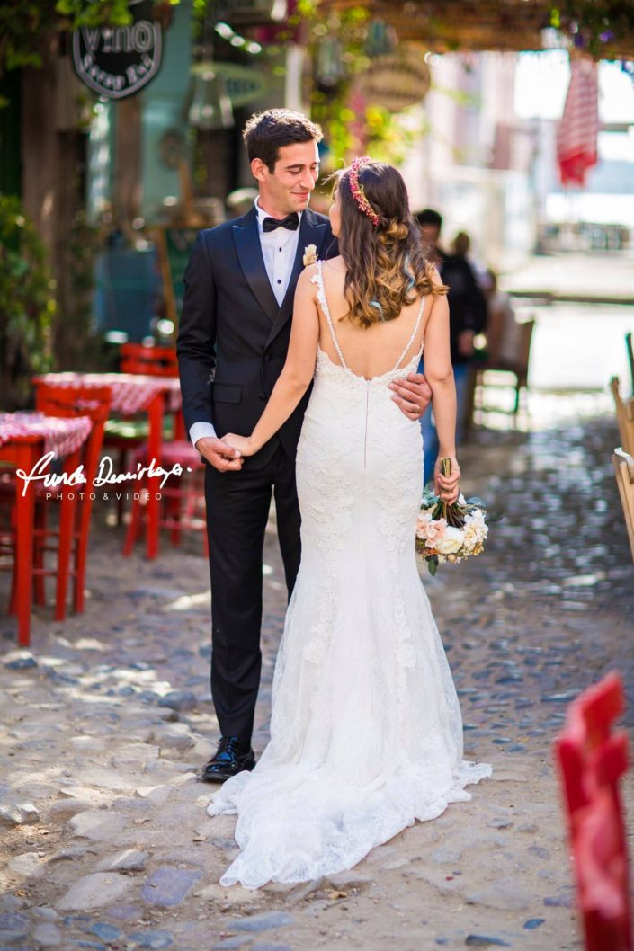 Selin ve Hakan Ayvalık Cunda Adası Dış Çekim Düğün Fotoğrafları