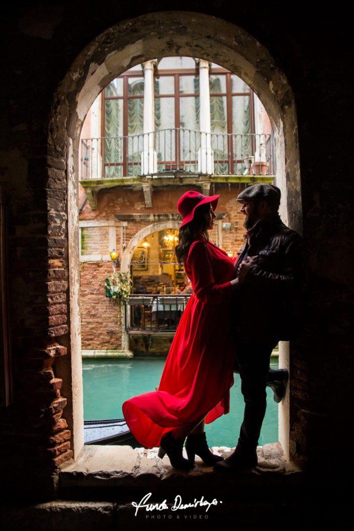 Elif ve Luca Venedik İtalya Yurtdışı Save The Date fotoğrafları (1)