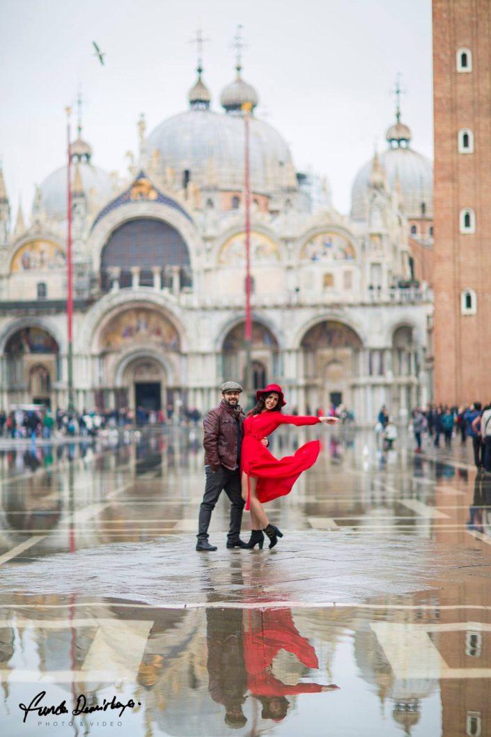 Elif ve Luca Venedik İtalya Yurtdışı Save The Date fotoğrafları (4)