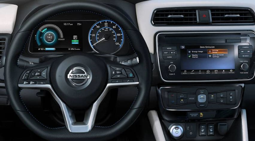 nissan leaf interior photos