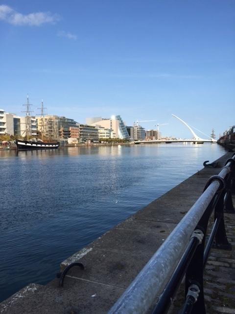 View of Samuel Beckett Bridge, Dublin