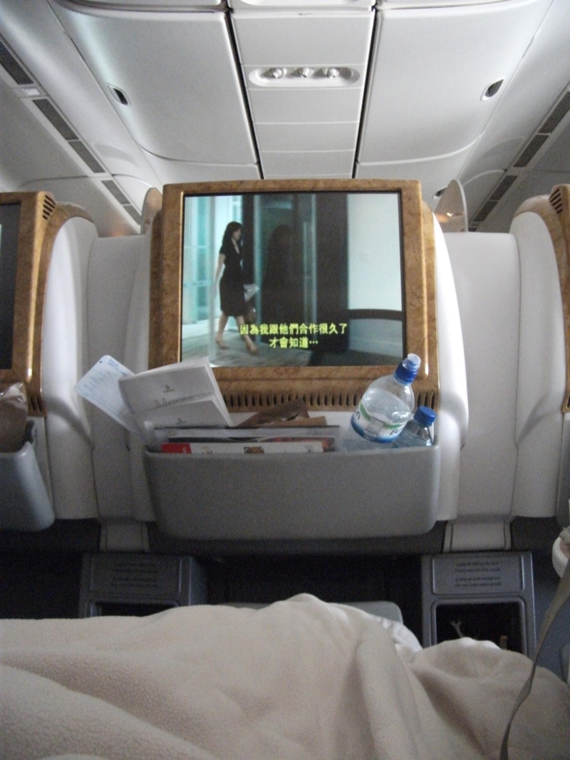 wanderlust bee on route to bangkok in business clas