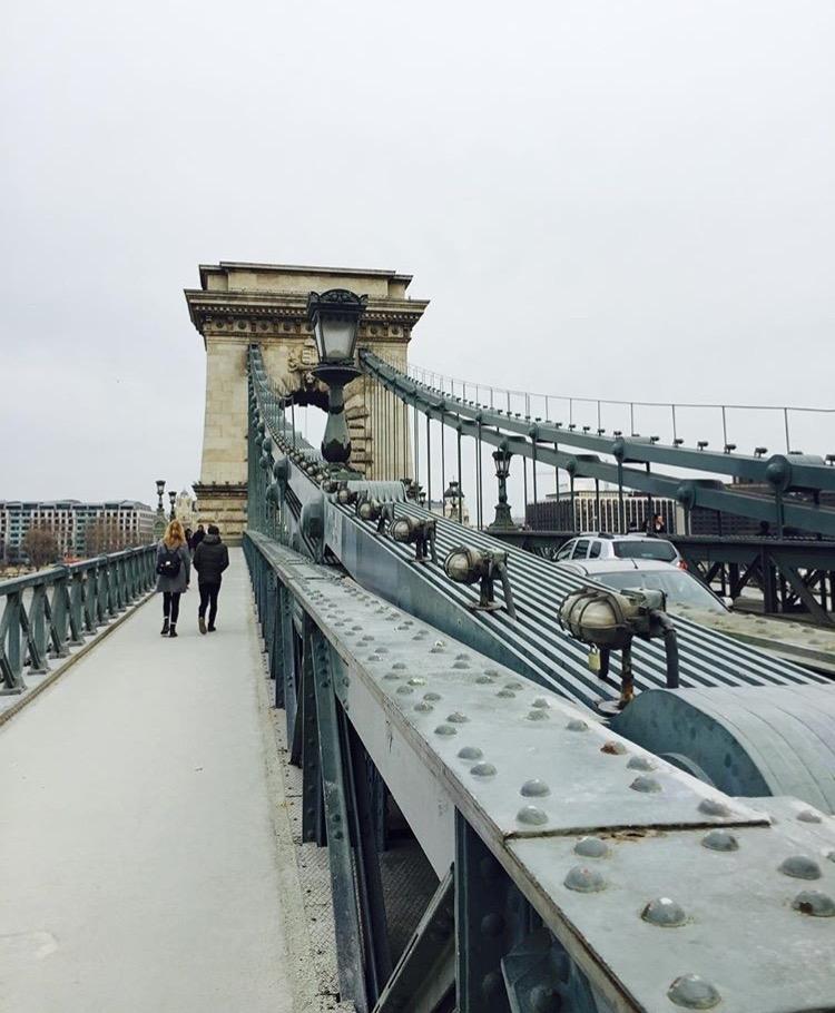 wanderlust bee chain bridge budapest