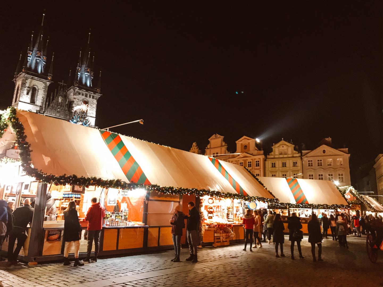 December in Prague, Czech Republic