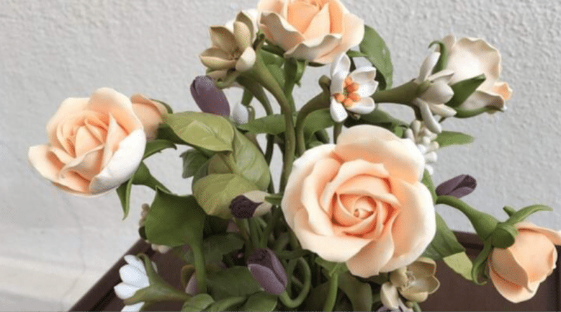 El eseri Çiçek 4/ Handmade Flowers 4