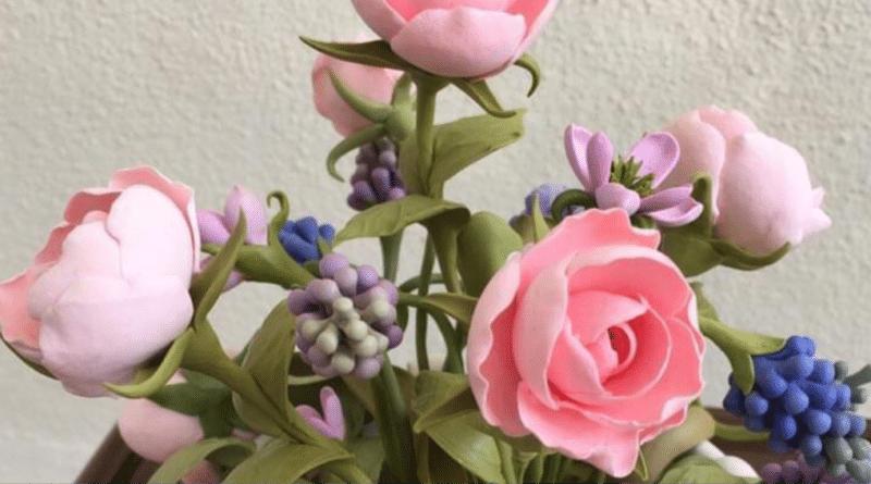 El eseri Çiçek 1/ Handmade Flowers 1