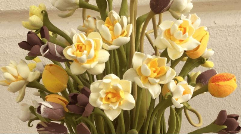 El eseri Çiçek 3/ Handmade Flowers 3