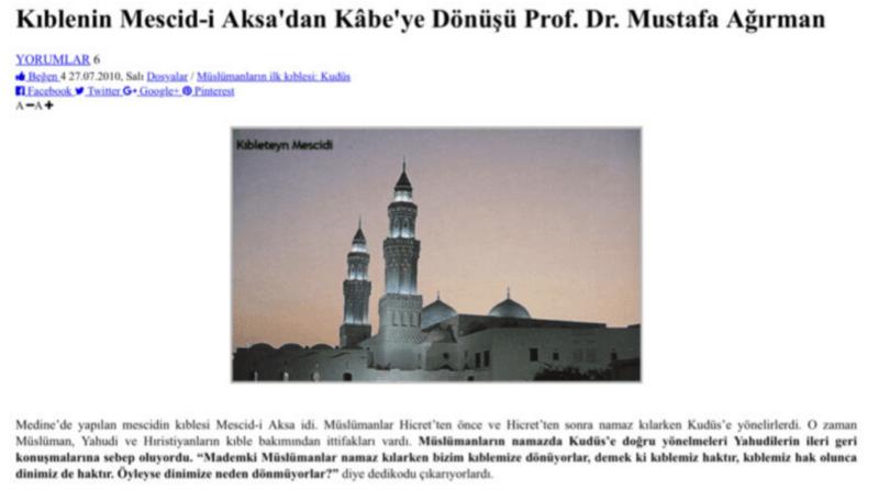 ALLAH KABEYİ KIBLE YAPTI, MESCİD-İ AKSA'YA TABİ OLMAMAYI EMRETTİ