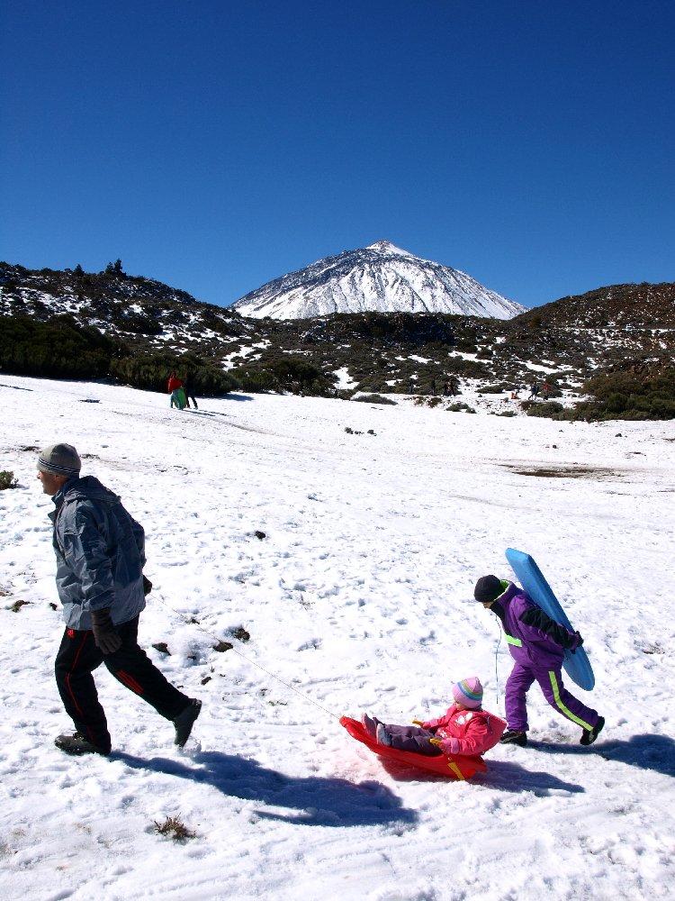 Sledging On Mount Teide
