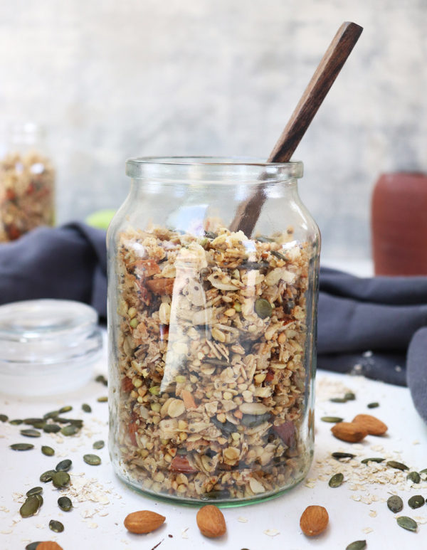 healthy twists granola jar