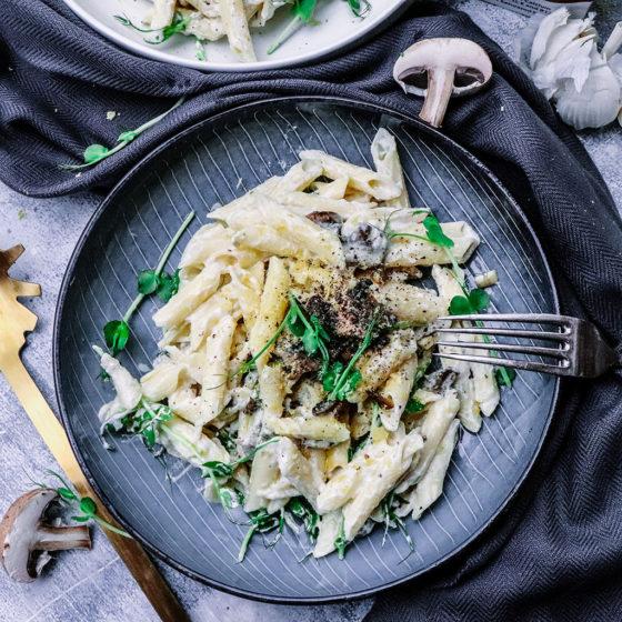 Vegan Mushroom Carbonara