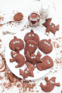 halloween chocolate cookie