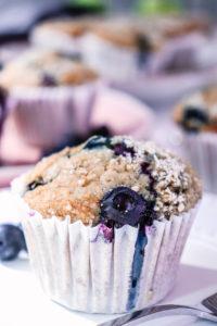berry and banana muffin