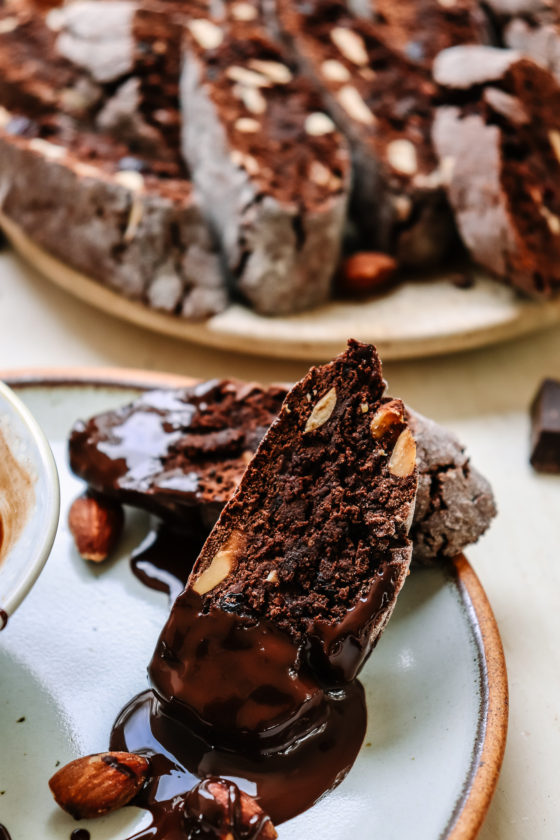 Chocolate orange gluten free biscotti