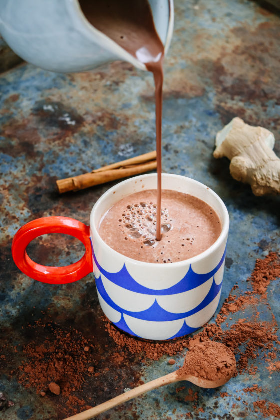 Spiced Peanut butter hot chocolate