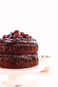 chocolate cherry celebration cake