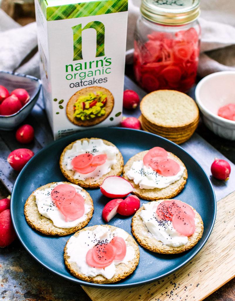 organic oatcakes cream cheese