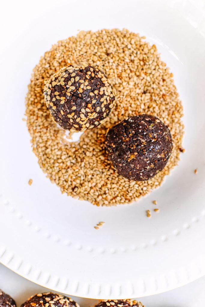 High fibre bliss balls - Chocolate Ginger
