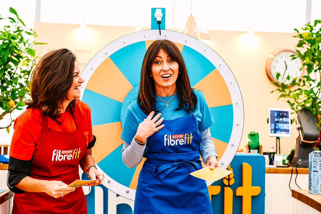 Bowel Babe and Davina McCall